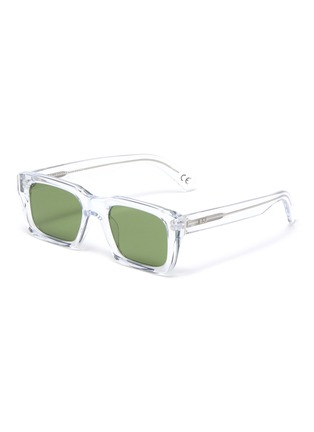 Main View - Click To Enlarge - SUPER - Augusto Crystal square acetate frame sunglasses
