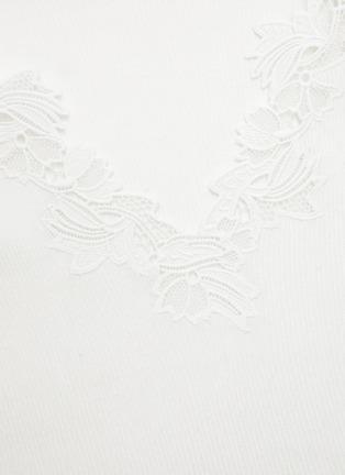 - CHLOÉ - Lingerie lace V neck knit top