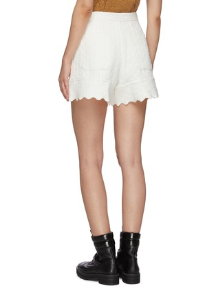 Back View - Click To Enlarge - CHLOÉ - Quilted jacquard scallop hem shorts