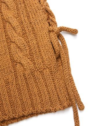 - CHLOÉ - Side tie chunky knit vest