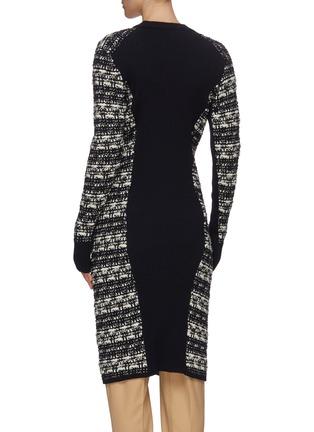 Back View - Click To Enlarge - CHLOÉ - Chunky tweed knit virgin wool long cardigan
