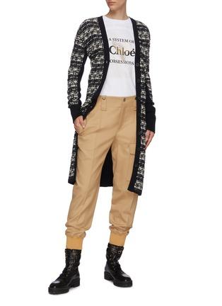 Figure View - Click To Enlarge - CHLOÉ - Chunky tweed knit virgin wool long cardigan