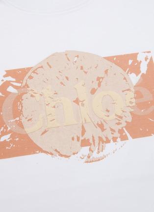 - CHLOÉ - Logo print mercerised cotton jersey T-shirt