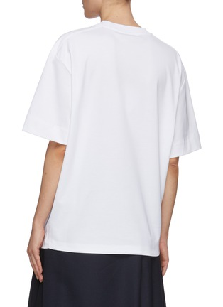 Back View - Click To Enlarge - CHLOÉ - Logo print mercerised cotton jersey T-shirt