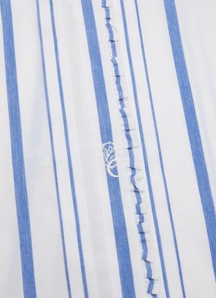 - CHLOÉ - Ruffle trim stand collar stripe shirt