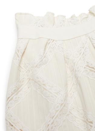 - CHLOÉ - Lace applique cady skirt