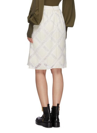 Back View - Click To Enlarge - CHLOÉ - Lace applique cady skirt