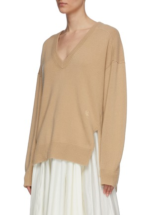 Detail View - Click To Enlarge - CHLOÉ - V neck cashmere knit sweater