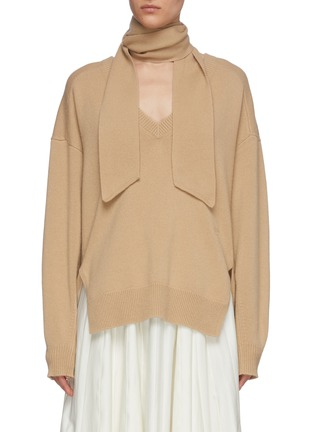Main View - Click To Enlarge - CHLOÉ - V neck cashmere knit sweater