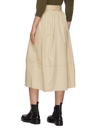 Back View - Click To Enlarge - CHLOÉ - Buttoned up cotton poplin midi skirt