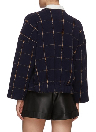 Back View - Click To Enlarge - CHLOÉ - Check jacquard knit crop jacket