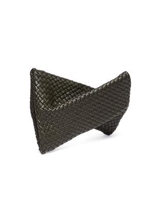 Detail View - Click To Enlarge - BOTTEGA VENETA - Intrecciato leather twist clutch