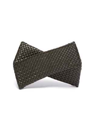Main View - Click To Enlarge - BOTTEGA VENETA - Intrecciato leather twist clutch