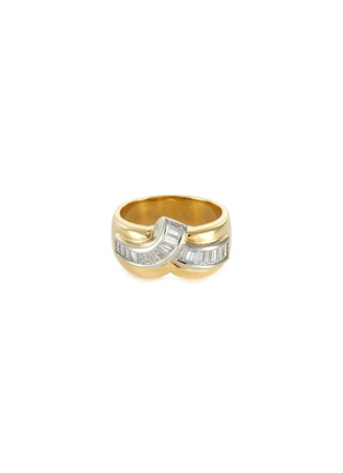 Main View - Click To Enlarge - LANE CRAWFORD VINTAGE JEWELLERY - Diamond 18k gold ring