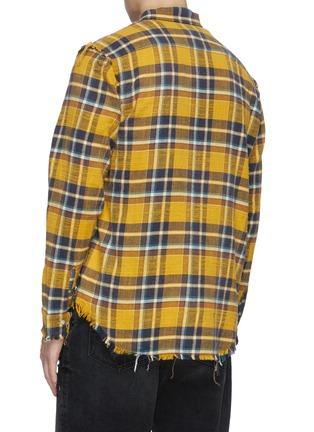 Back View - Click To Enlarge - R13 - Distress seam check plaid shirt