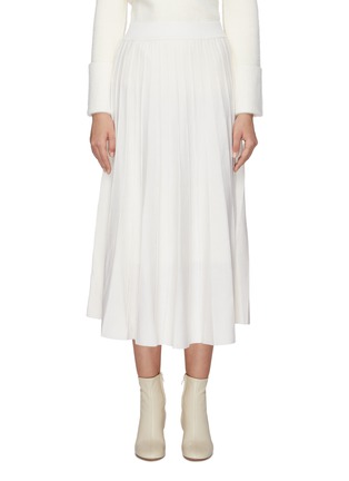 Main View - Click To Enlarge - SWAYING - Pleated wool knit skirt