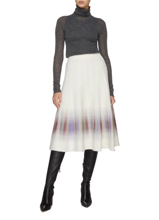 Figure View - Click To Enlarge - SWAYING - Gradient flared knit skirt