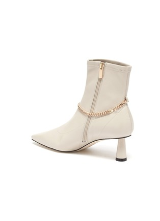- PEDDER RED - Avery' chain detail stretch leather ankle boots