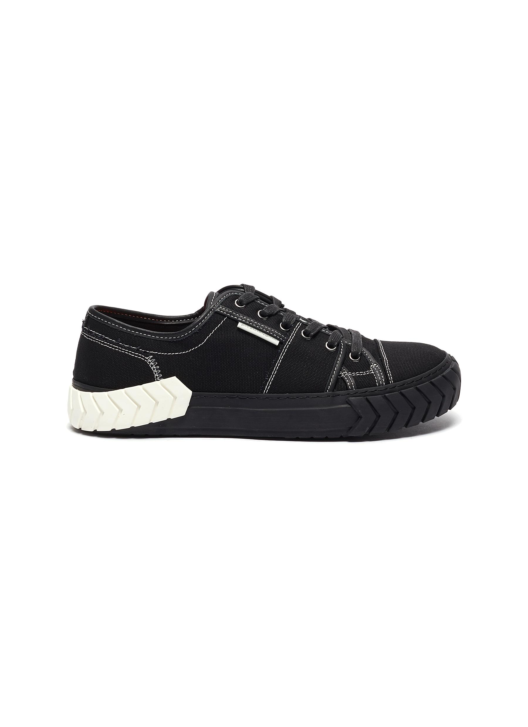 Both 'TYRES DECONSTRUCT' CONTRAST TOPSTITCH SNEAKERS