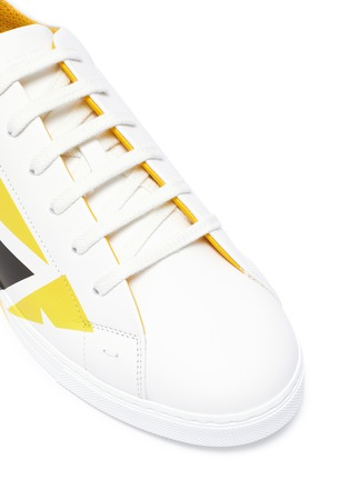 Detail View - Click To Enlarge - FENDI - Eye print leather sneakers