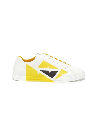 Main View - Click To Enlarge - FENDI - Eye print leather sneakers