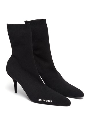 Detail View - Click To Enlarge - BALENCIAGA - Sock Heel Ankle Boots