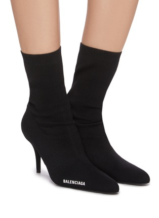 Figure View - Click To Enlarge - BALENCIAGA - Sock Heel Ankle Boots