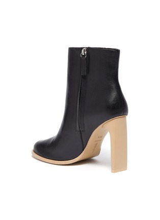 - CULT GAIA - 'KATHY' Wood Sole Blade Heel Ankle Boots