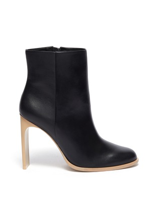 Main View - Click To Enlarge - CULT GAIA - 'KATHY' Wood Sole Blade Heel Ankle Boots