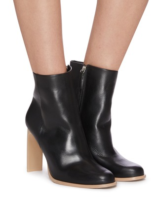 Figure View - Click To Enlarge - CULT GAIA - 'KATHY' Wood Sole Blade Heel Ankle Boots