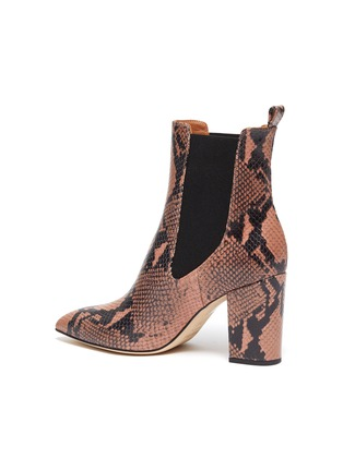 - PARIS TEXAS - Snake embossed leather ankle boots
