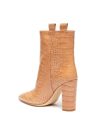 - PARIS TEXAS - Croc embossed leather mid calf boots