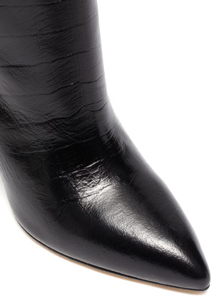 Detail View - Click To Enlarge - PARIS TEXAS - Croc embossed leather ankle boots