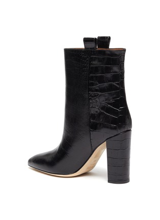 - PARIS TEXAS - Croc embossed leather ankle boots
