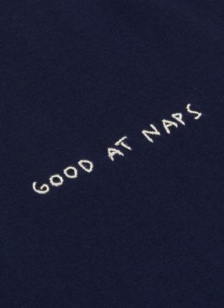 - YEAH RIGHT NYC - Good At Naps slogan embroidered T-shirt