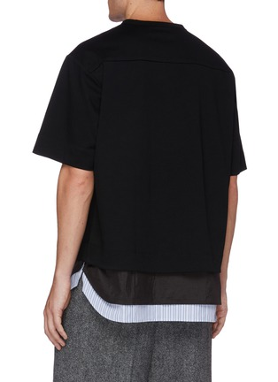 Back View - Click To Enlarge - JUUN.J - Layered hem T-shirt