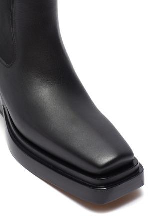Detail View - Click To Enlarge - BOTTEGA VENETA - 'Camperos' square toe leather boots