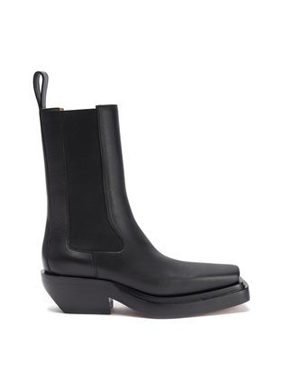 Main View - Click To Enlarge - BOTTEGA VENETA - 'Camperos' square toe leather boots