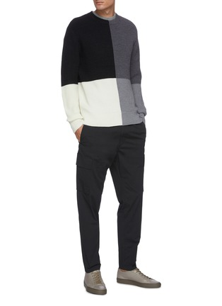 Figure View - Click To Enlarge - THEORY - 'Denton' colourblock merino wool sweater