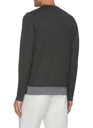 Back View - Click To Enlarge - THEORY - 'Arnaud' crewneck merino wool sweater