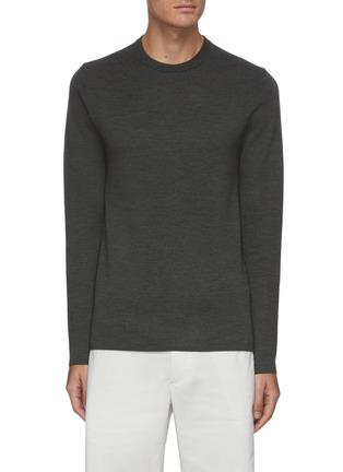 Main View - Click To Enlarge - THEORY - 'Arnaud' crewneck merino wool sweater