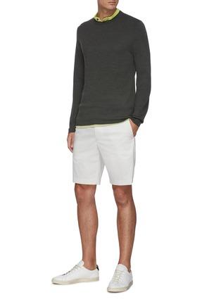 Figure View - Click To Enlarge - THEORY - 'Arnaud' crewneck merino wool sweater