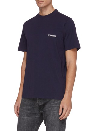 Front View - Click To Enlarge - VETEMENTS - Logo print T-shirt
