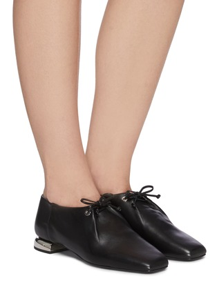 Figure View - Click To Enlarge - PIERRE HARDY - 'Satellite' lambskin leather loafers