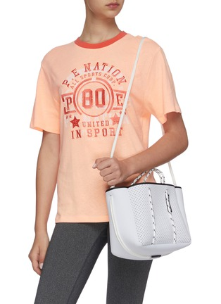 Front View - Click To Enlarge - STATE OF ESCAPE - Petite Escape sailing rope neoprene tote