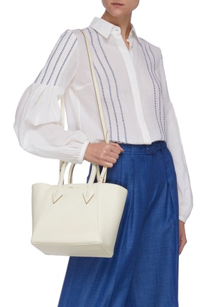 Figure View - Click To Enlarge - MÉTIER - 'Perriand' medium leather tote bag