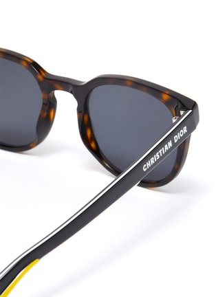 Detail View - Click To Enlarge - DIOR - DiorB24.2 tortoiseshell effect acetate frame sunglasses