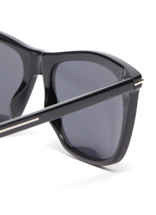 Detail View - Click To Enlarge - DIOR - BlackTie268S angular acetate frame sunglasses