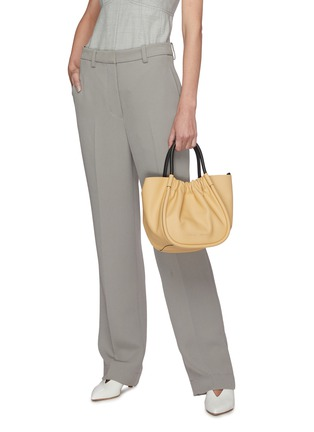 Front View - Click To Enlarge - PROENZA SCHOULER - Ruched small leather tote