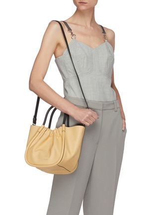 Figure View - Click To Enlarge - PROENZA SCHOULER - Ruched small leather tote